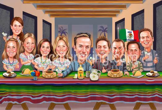 last supper caricature
