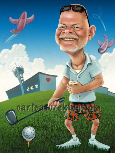 golfer caricature