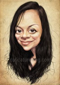 Caricature of a young woman