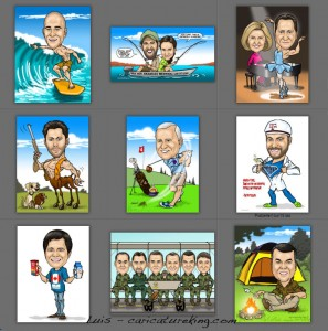 Luis big head little body caricatures