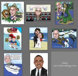 eddie caricature online