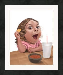 amazing expression caricature of girl