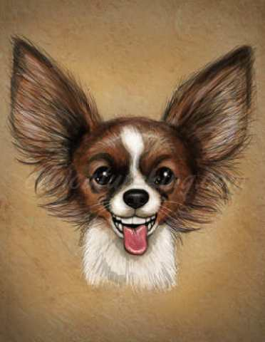 smiling dog caricature ift art caricature from caricatureking.com