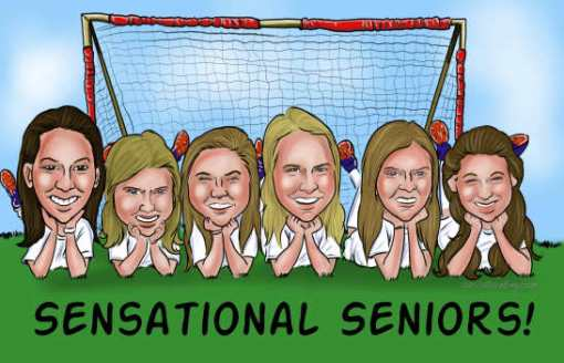 soccer girls team caricature from caricatureking.com
