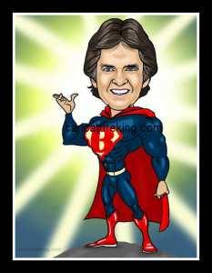superBOB caricature from caricatureking.com