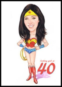 4oth birthday gift idea- caricature