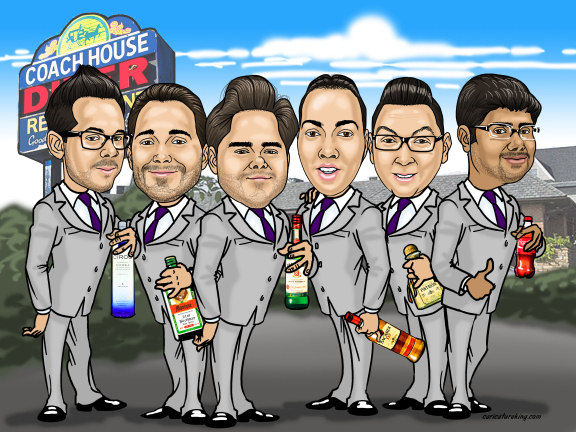 groomsmen gift idea - a caricature