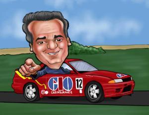 racing car cartoon