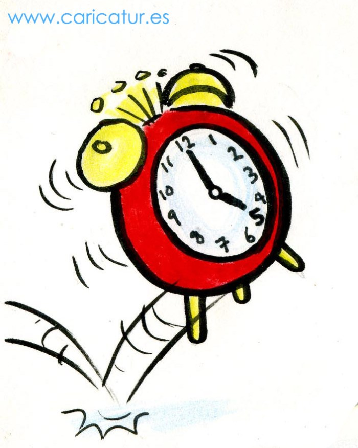 Alarm Clock Cartoon By Irish Cartoonist Allan Cavanagh