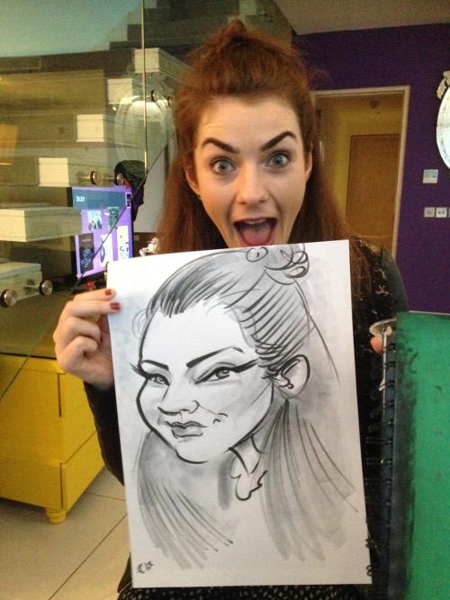 live caricatures by Allan Cavanagh, Ireland