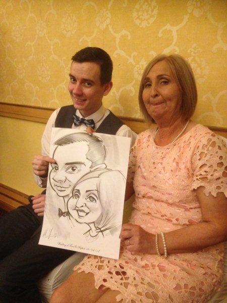 Wedding Caricature Artist Allan Cavanagh