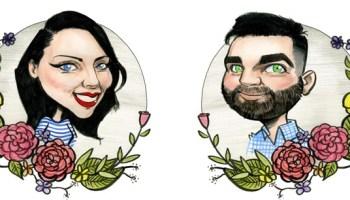 Wedding Invitation Artwork Caricatures Ireland By Allan Cavanagh