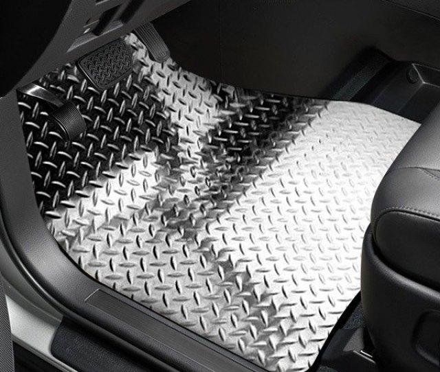 Acc Black Powder Coated Diamond Plate Aluminum Floor Mats