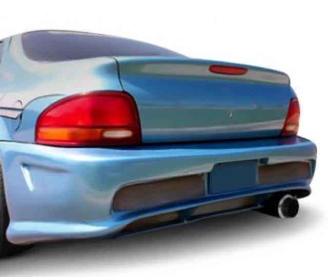 Duraflex Kombat Style Fiberglass Rear Bumper Cover Unpainted