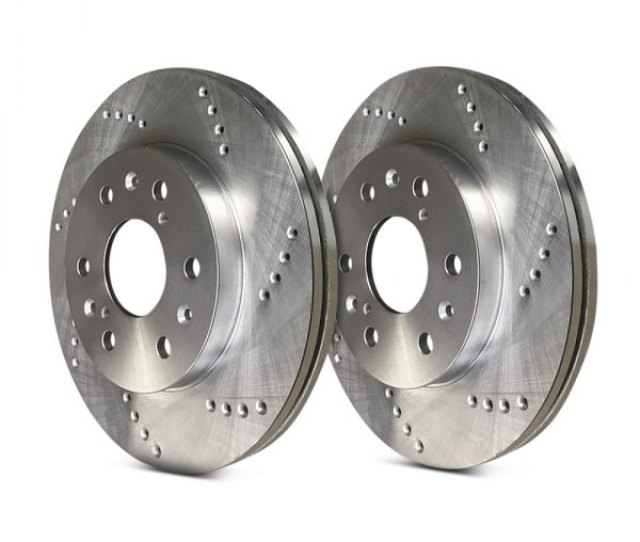 Sp Performance Cross Drilled 1 Piece Front Brake Rotors