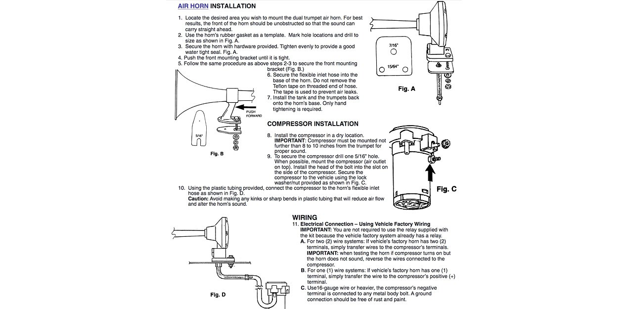 Great Omega Air Horn Wiring Diagram Gallery - Electrical System ...