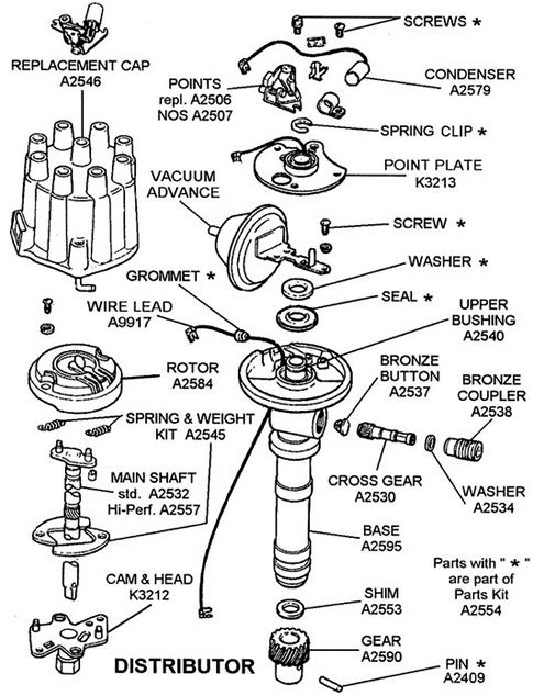 msd distributor parts diagram