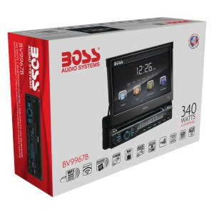 BOSS Audio® BV9967B  Single DIN DVDCDAMFMMP3WMA