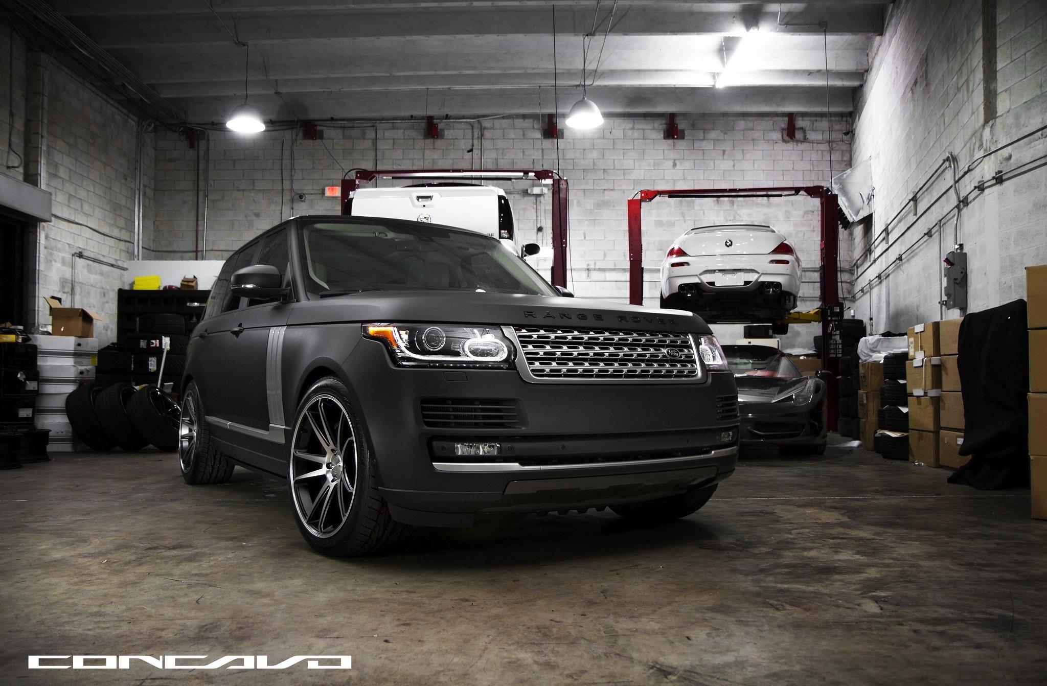 Pure Luxury Matte Black Range Rover Vogue by Concavo — CARiD