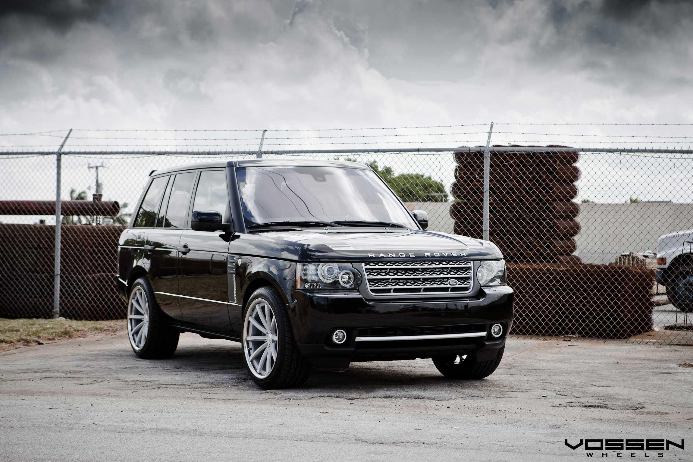 Prestige Ride Black Range Rover Enhanced With Custom Vossen Rims