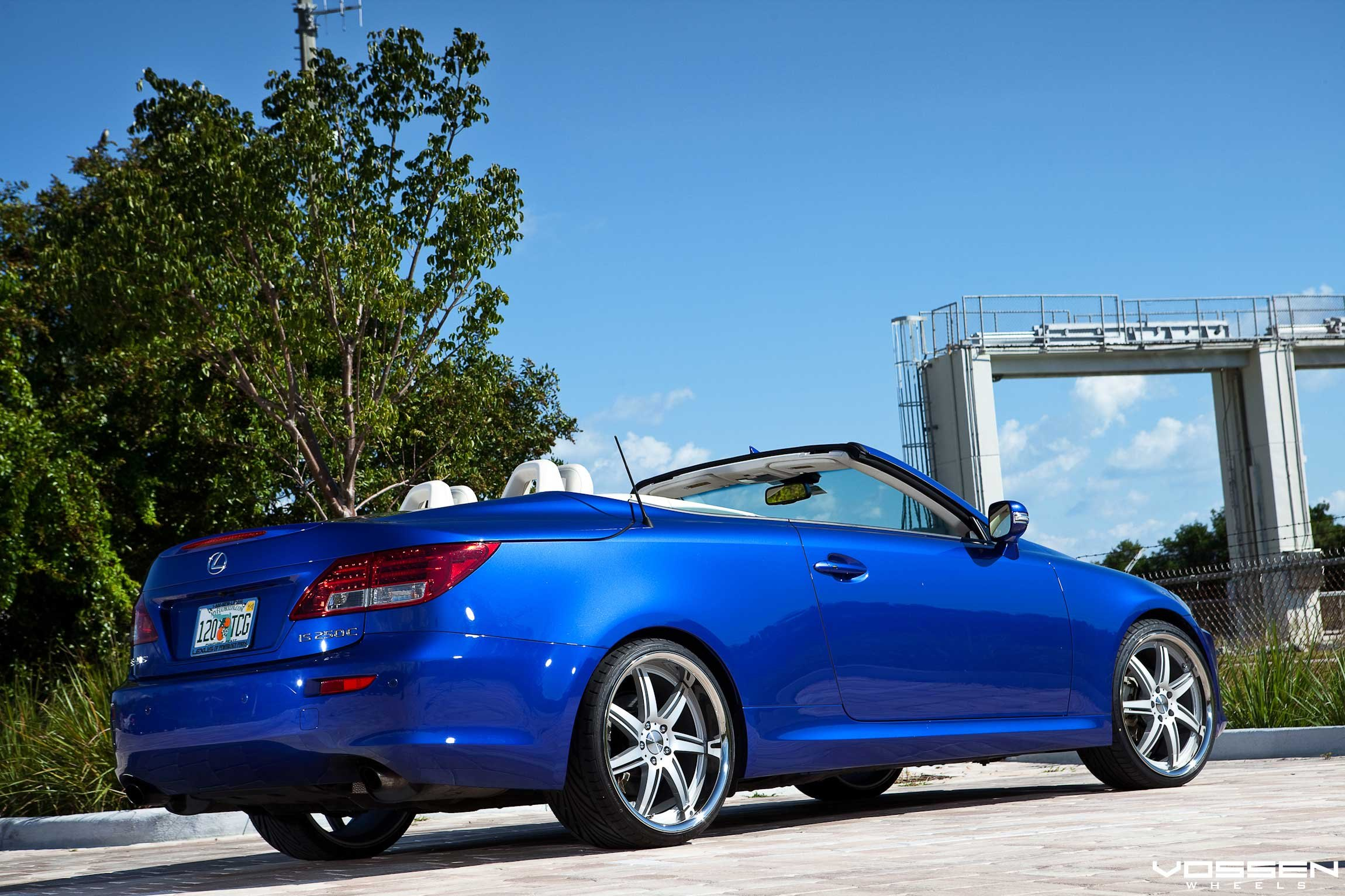 Sky Blue Lexus IS Convertible Looking Great on Vossen Custom