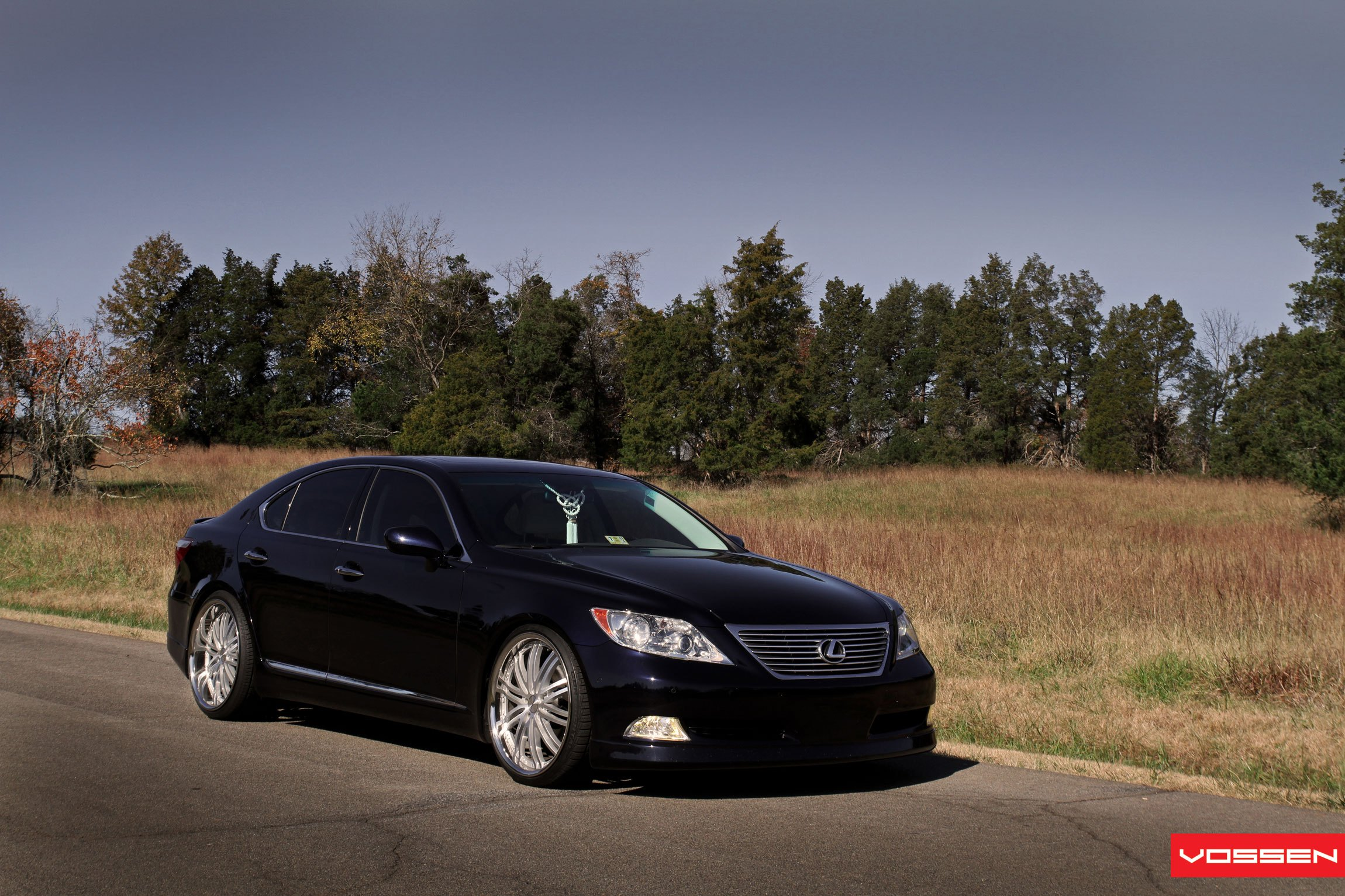 Drop of Luxury Black Lexus LS460 Enhanced by Vossen — CARiD