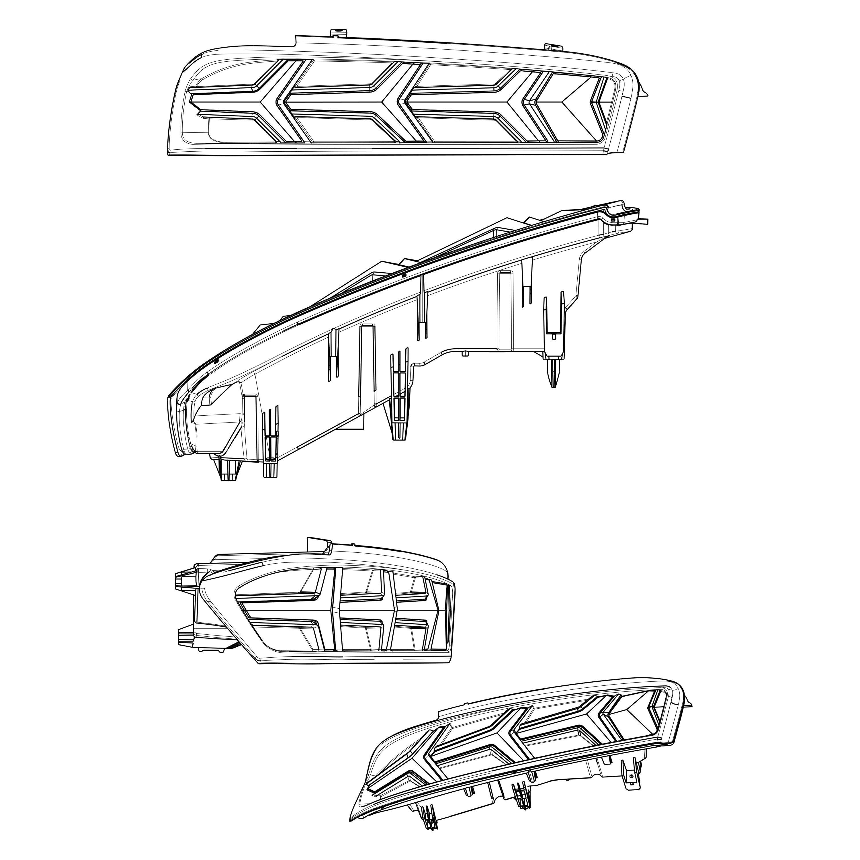 For Chevy Camaro 16 17 Morimoto Xb Black Smoke Sequential