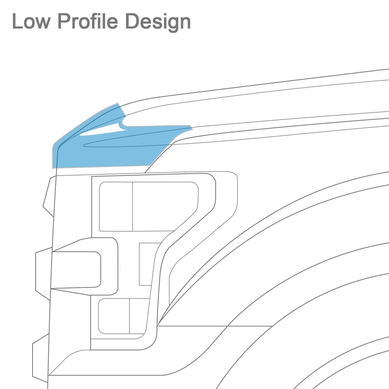 For Nissan Rogue Avs Aeroskin Chrome Hood