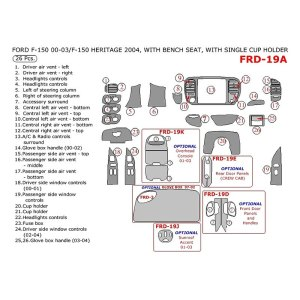 Remin®  Ford F150 Regular Cab 2000 Main Dash Kit
