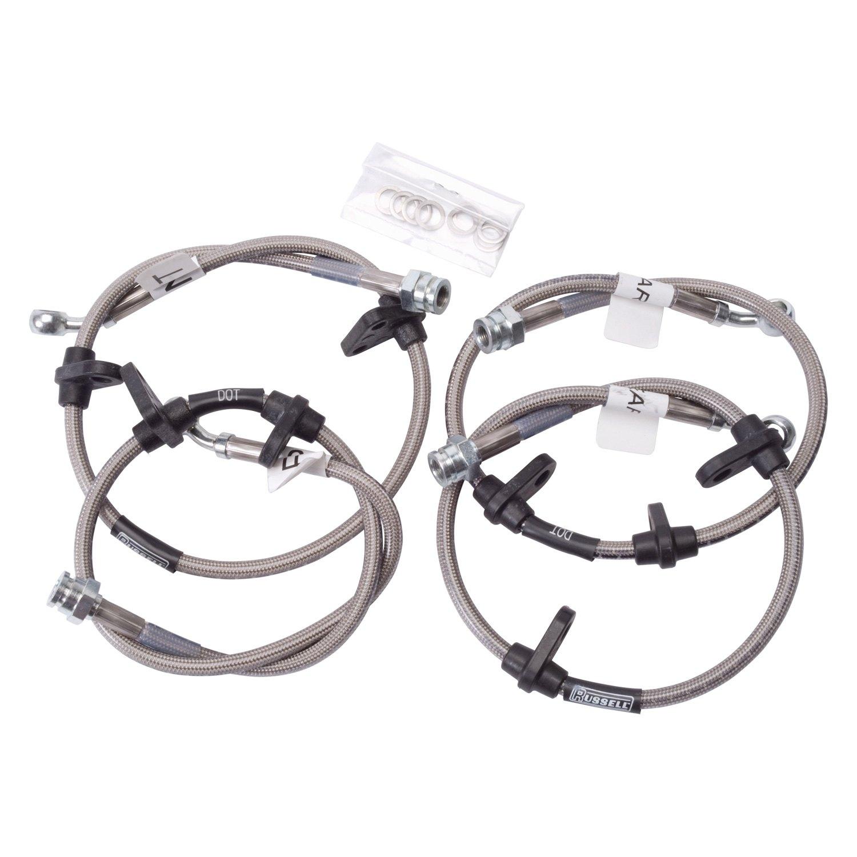 For Honda Crx 90 91 Russell Braided Stainless Steel Rear Brake Hose Kit