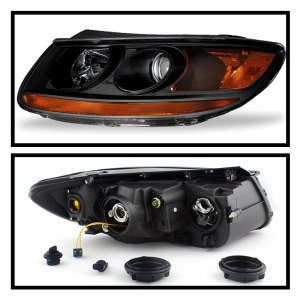 Spyder®  Hyundai Santa Fe 20072012 Black Factory Style