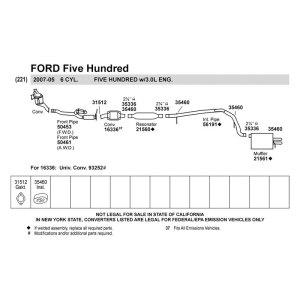 2007 Ford Five Hundred Parts Diagram  ampatk