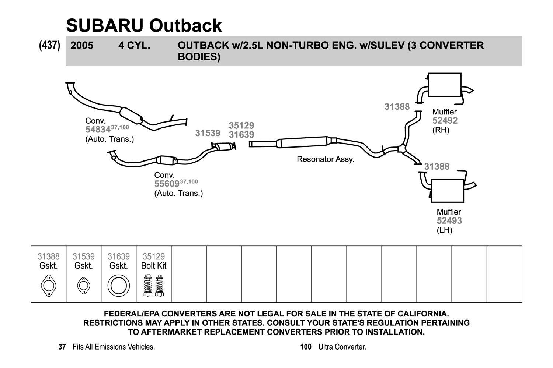 2006 subaru outback exhaust