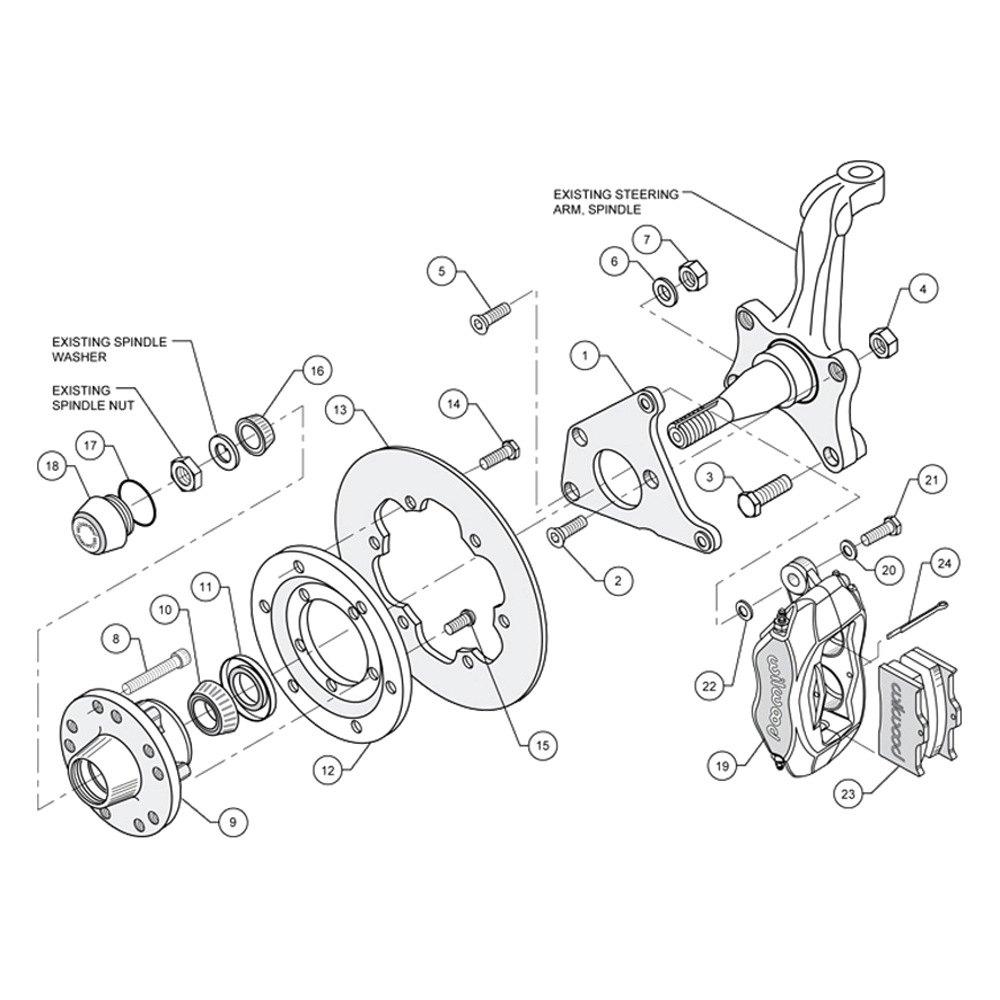 Drag race plain rotor forged dynalite caliper front brake kitwilwood®