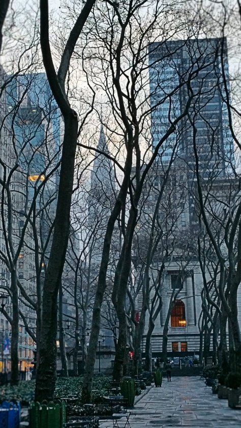 Chrysler Building and Bryant Park