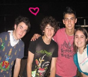 Jonas Brothers!  This was taken after the House of Blues Concert 2007 Atlantic City