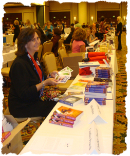 Allie Pleiter and other authors at the RWA Literacy Signing