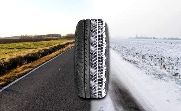 En hiver un pneu été est moins performant qu'un pneu hiver
