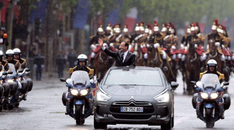 François Hollande a choisi la DS5 Hybride pour descendre les Champs Elysées lors de son investiture