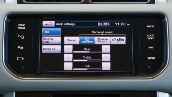 Range Rover 2013 système infotaitment