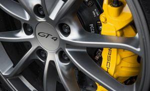 les freins de la Porsche Cayman GT4