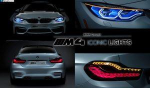 BMW M4 Iconic Lights avec un éclairage mélangeant Laser et OLED
