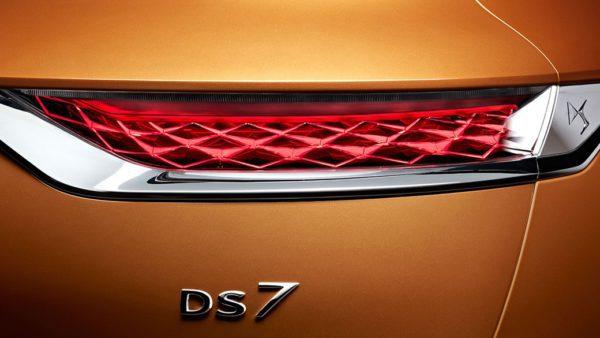 Les feux arrière du DS DS7 Crossback