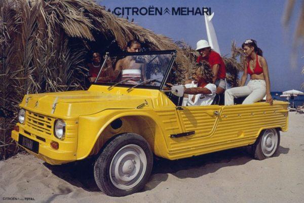 Citroen à Rétromobile 2016 avec ses Mehari et e-Mehari pour un transfert de Génération