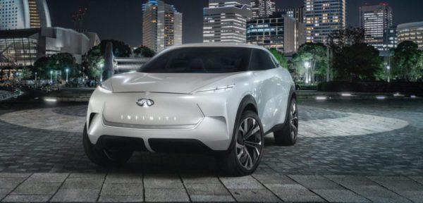 Le concept QX Inspiration d'Infiniti qui devait être présenté au salon de l'automobile de Detroit 2019