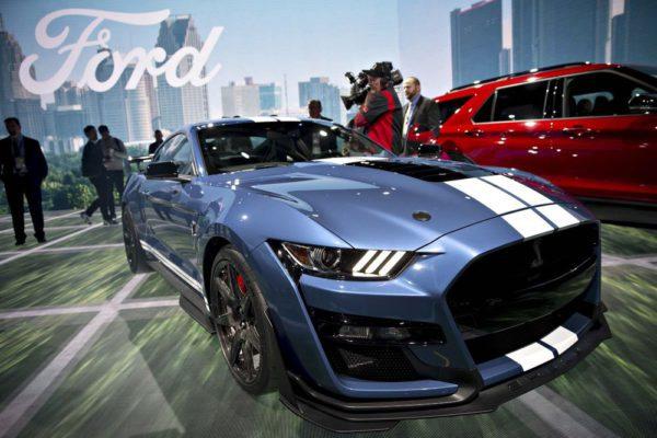 Ford Mustang Shelby GT500 au salon de l'automobile de Detroit 2019 crédit image Bloomberg