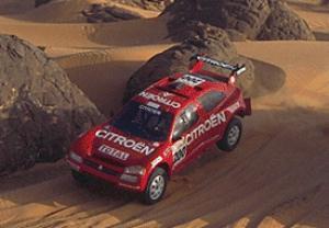 La ZX Rallye Raid, pilotée de main de maitre par Pierre Lartigue, lors du Grenade Dakar 1995