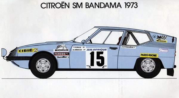 Citroën SM Proto rallye du Bandama 1973