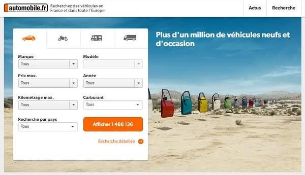Automobile.fr est le site d'Ebay pour acheter une voiture d'occasion