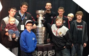 The Frat House Boys with The Stanley Cup